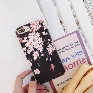 Accessories - NEW iPhone 6/7/8 Black Sakura Flower Case
